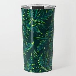 Fern leaves - green Travel Mug