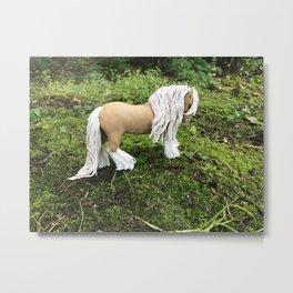 Golden Palomino Gypsy Vanner Horse Metal Print