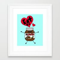 nutella Framed Art Prints featuring Nutella by Aurelie