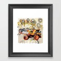 dump truck Framed Art Print