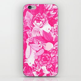 Florida Tapestry - monochrome pink iPhone Skin