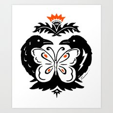 Raven Butterly Art Print