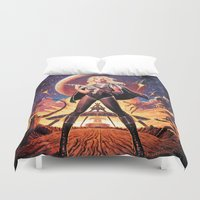 tim shumate Duvet Covers featuring Barbarella Tim Hildebrandt by Cult Posters