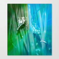 psychadelic Canvas Prints featuring Psychadelic Seahorse by Heidi Fairwood