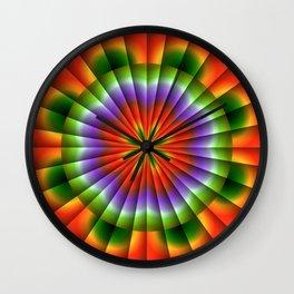 Pulsating Rainbow Wheel Wall Clock