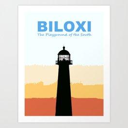 Biloxi Mississippi. Art Print