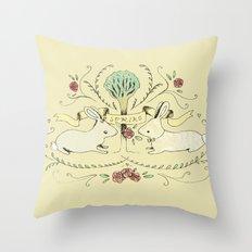 Spring Folk Art Throw Pillow