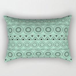 boho turquoise pattern with mandalas Rectangular Pillow