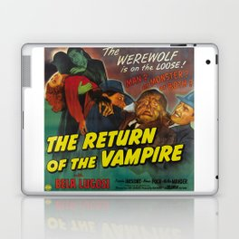 The Return of the Vampire, vintage horror movie poster Laptop & iPad Skin