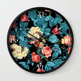 NIGHT FOREST XII Wall Clock