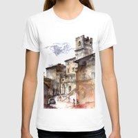 italy T-shirts featuring Cortona, Italy by zawij
