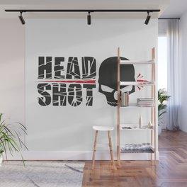 Headshot skull Wall Mural