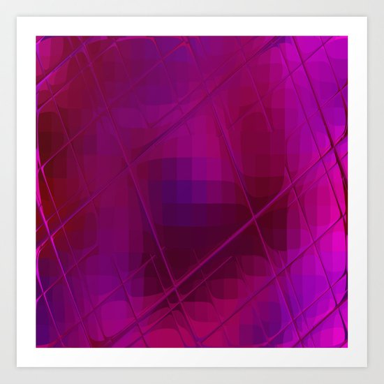 Re-Created Twisted SQ XLIV by Robert S. Lee Art Print