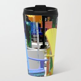 Brightly Colored Chairs Travel Mug