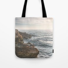 Ocean (Rocks Within the Misty Blue) Tote Bag