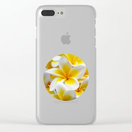 Frangipani halo of flowers Clear iPhone Case