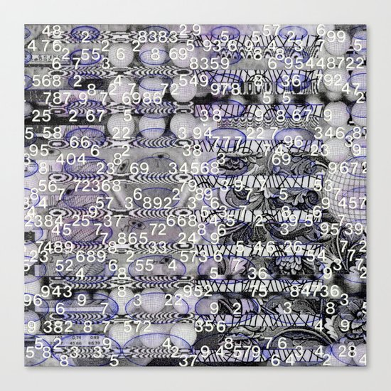 Post-Digital Tendencies Emerge (P/D3 Glitch Collage Studies) Canvas Print