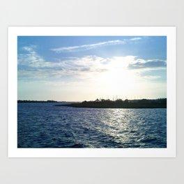 Sunset in the Harbor Art Print