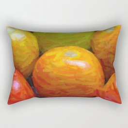 Paint of colorful tomatoes Rectangular Pillow