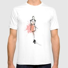 Coral Fashion Mens Fitted Tee White MEDIUM