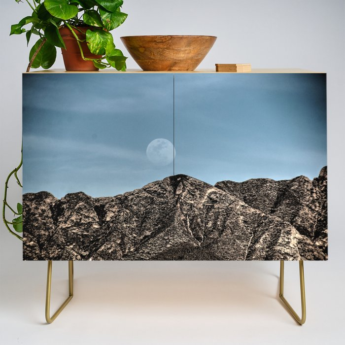 Moon over the Franklin Mountains Credenza