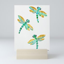 Dragonfly - Green Palette Mini Art Print