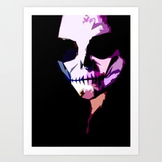 Smiley Skull Art Print
