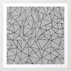 Abstraction Lines #2 Black and White Art Print