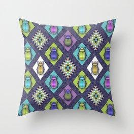 Scarabs Quilt Throw Pillow