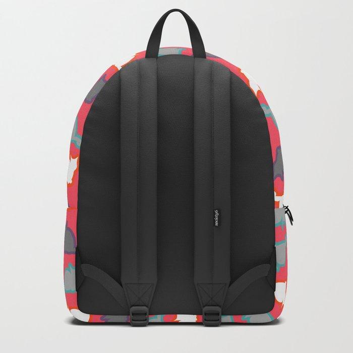 Cute cat pattern in pink Backpack