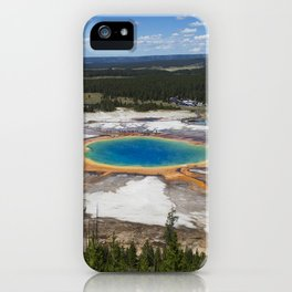 grand prismatic spring iPhone Case