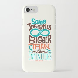 Some Infinities Are Bigger Than Other Infinities iPhone Case