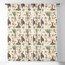 Bunnies and Carrots in the Fall Blackout Curtain