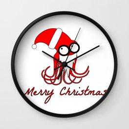Santa Octopus Wall Clock