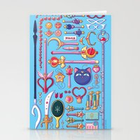 arsenal Stationery Cards featuring Magical Arsenal Blue by Paulina Ganucheau