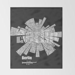 Berlin Map Throw Blanket