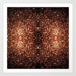Beautiful Bronze Orange Brown glitters sparkles Art Print