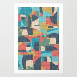 crosshatch patchwork Art Print