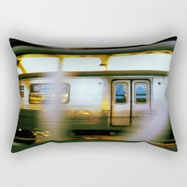 D Train on the Manhattan Bridge Rectangular Pillow