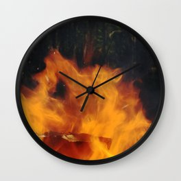 flame dance Wall Clock