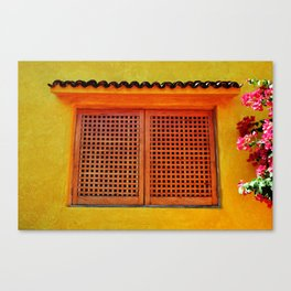 Window in Yellow - Careyes, México Canvas Print