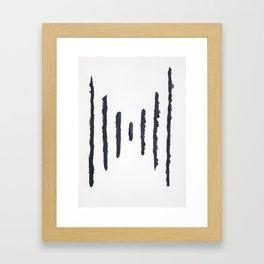A #11 - Minimalistic Framed Art Print