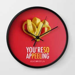 You're So Appeeling Wall Clock
