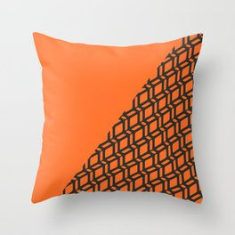 Papaya Split Geo Bespoke Throw Pillow
