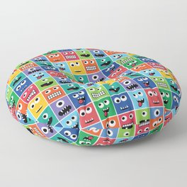 Cute Kids Monster Face Pattern Floor Pillow