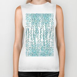string of pearl watercolor Biker Tank