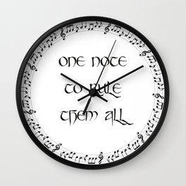 One Note To Rule Them All Wall Clock
