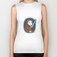 guinea pig Biker Tanks featuring Jedi Guinea Pig by When Guinea Pigs Fly