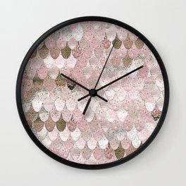 SUMMER MERMAID NUDE ROSEGOLD by Monika Strigel Wall Clock