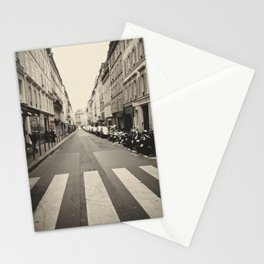 The streets of Paris, France Stationery Cards